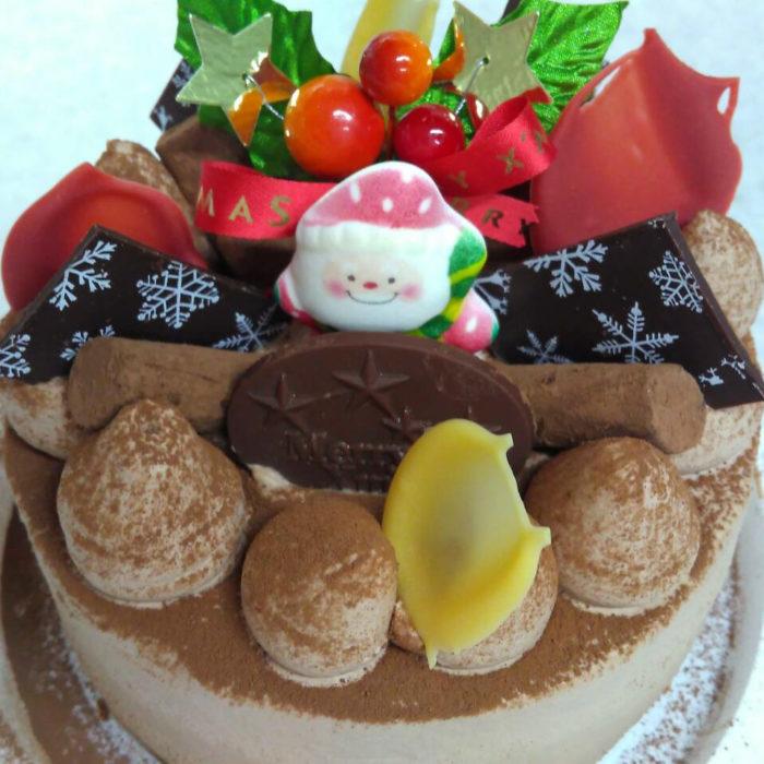 クリスマスケーキ 生チョコレート仕上げ
